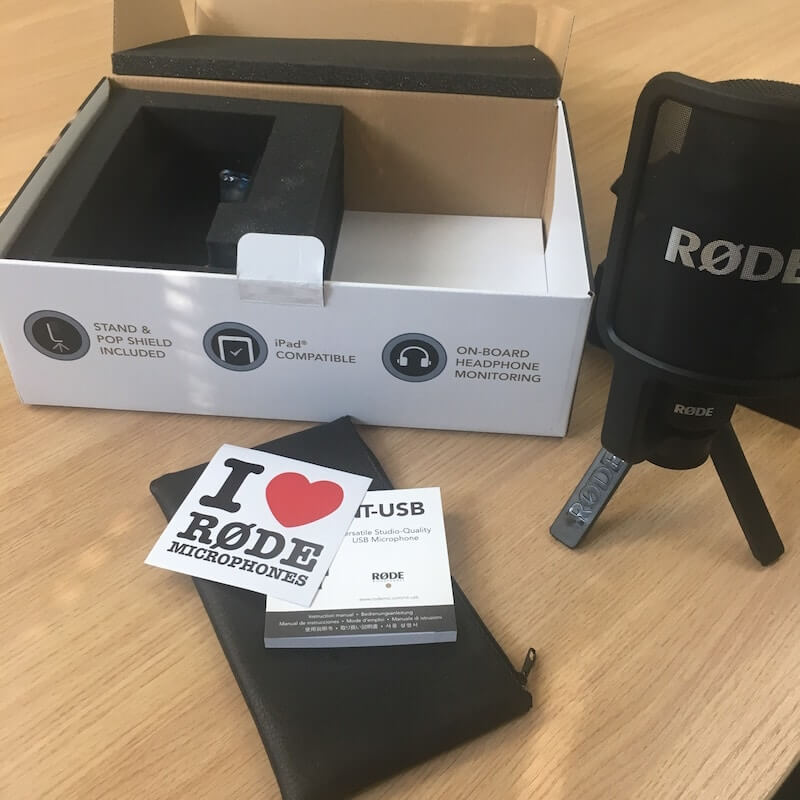 rode microphone unboxing experience