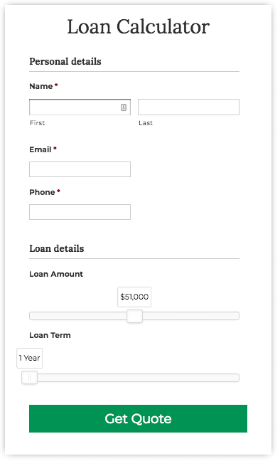 finance calculator tool screenshot