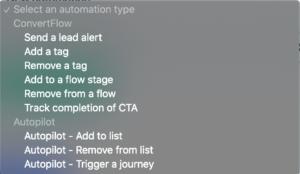 ConvertFlow and Autopilot automations