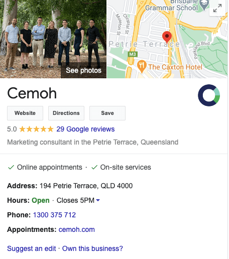Cemoh Google My Business