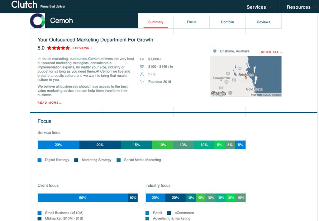 Cemoh Clutch Profile Location Citation Example